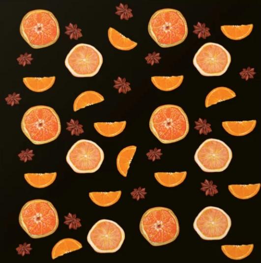#oranges #naranja #citrus #fruit #fruitart #orangepieces #cinnamon #POD #bags #shirts #tabletop #apprel #homedecor #Redbubbleartist #zazzlemade #Society6 #Teepublic #IvankaKolchakova